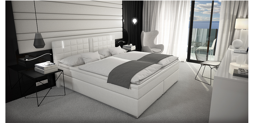 boxspringbett 160 180x200 hotelbett visco led lautsprecher. Black Bedroom Furniture Sets. Home Design Ideas