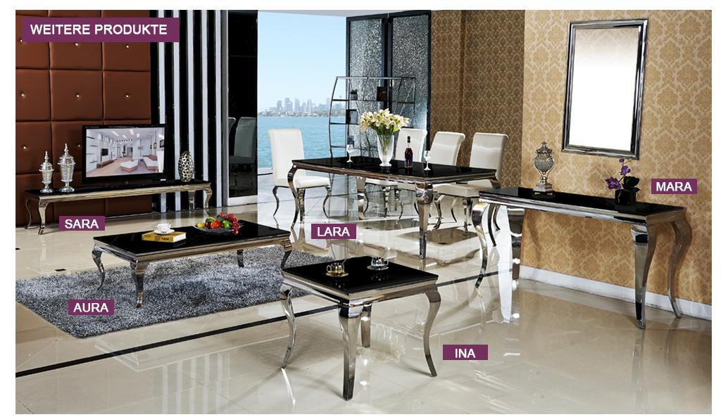 couchtisch barock stil aura schwarz wohnzimmertisch tisch. Black Bedroom Furniture Sets. Home Design Ideas